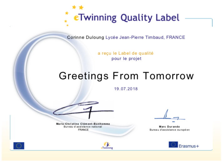 Individual results france greetings from tomorrow french team has the national quality label congratulations m4hsunfo